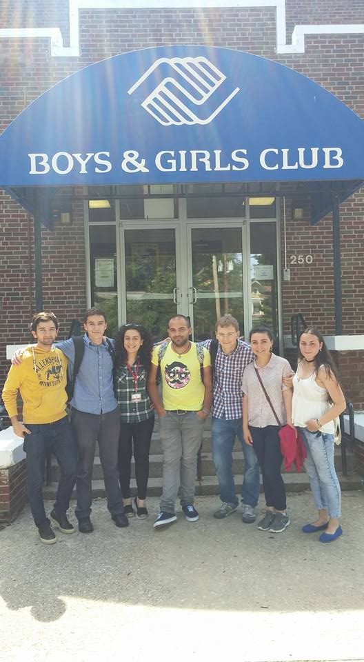 Volunteers at the Boys and Girls Club